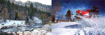 Spearfish Canyon and Snowmobile
