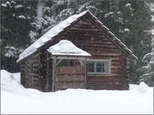 Fish Lake Remount Depot -- Commissary Cabin Winter