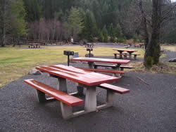 Photo of Picnic tables at Upper Arm Day Use