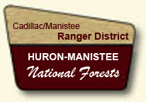 Clip Art Image of a portal sign for the Cadillac/Manistee Ranger District