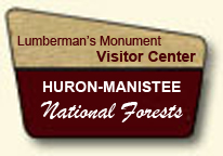Clip Art Image of a portal sign for the Lumberman's Monument Visitor Center