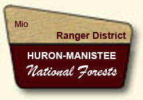 Clip Art Image of a portal sign for the Mio Ranger Station