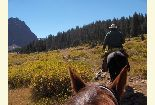 Horse riders near Red Castle Peak