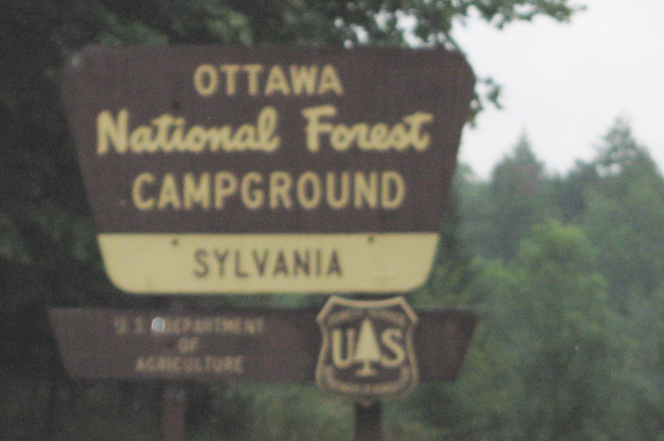 Sign for Clark Lake Campground