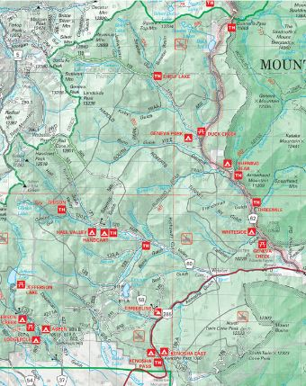 Kenosha Pass/ Guanella Pass overview map