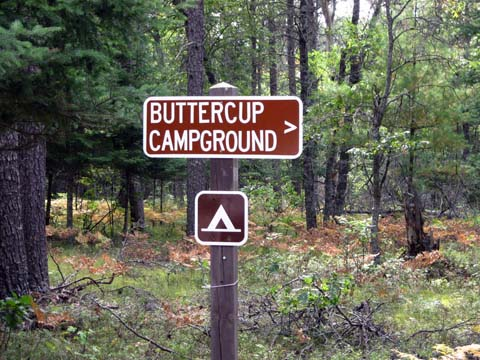 Sign at Buttercup Campground