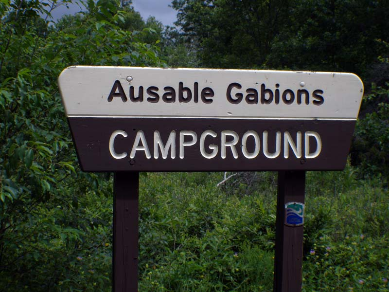Gabions Campground and Day Use sign