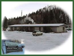 Photo of the Sula Ranger District office
