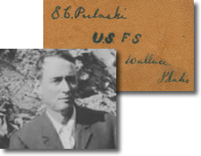 Photo of Edward C. Pulaski and his notebook.
