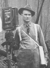 Photo of R.H. McKay, who took many of the afer-fire photos, among other photographers.