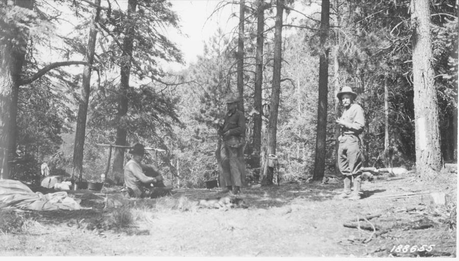 Rock Circle Trail Camp, 1924