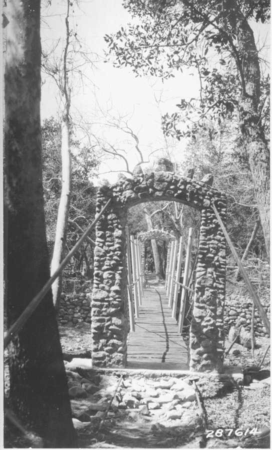 Hermitage Canyon Suspension Bridge, 1934