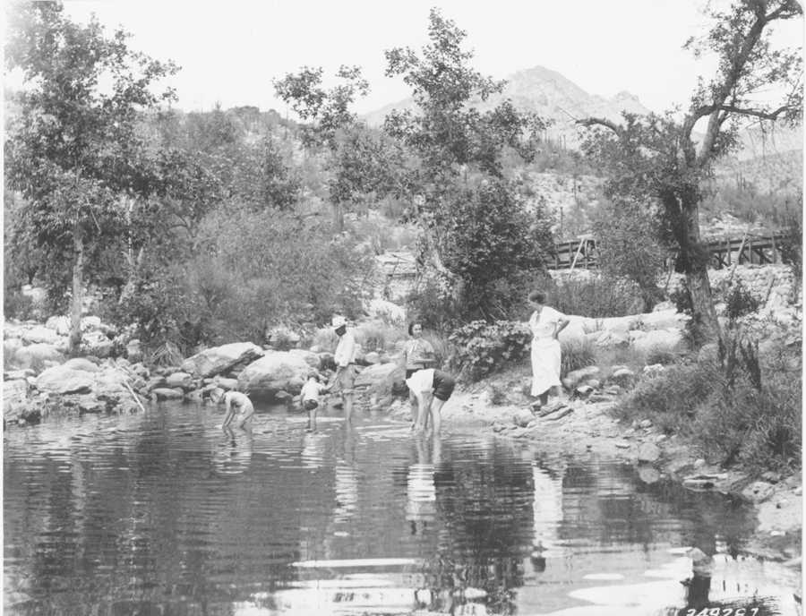 Lower Sabino Canyon Recreation, 1937