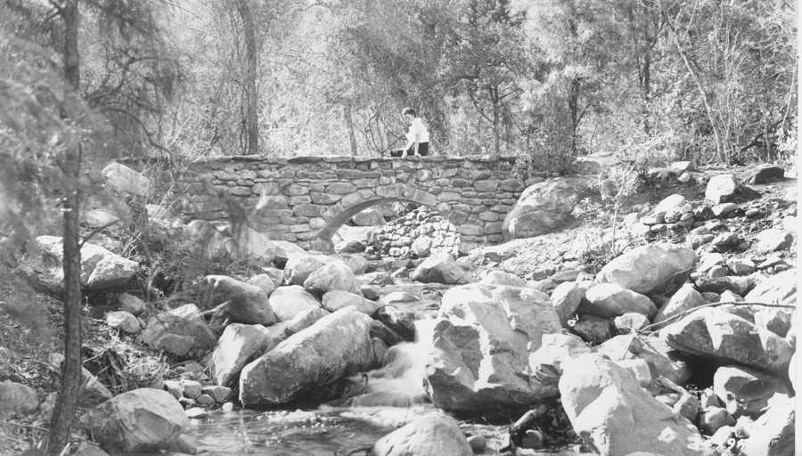 Rock Creek Footbridge, 1937