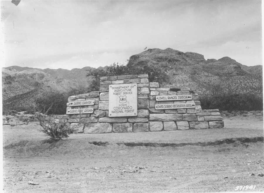 Sabino Canyon Recreational Area, 1938