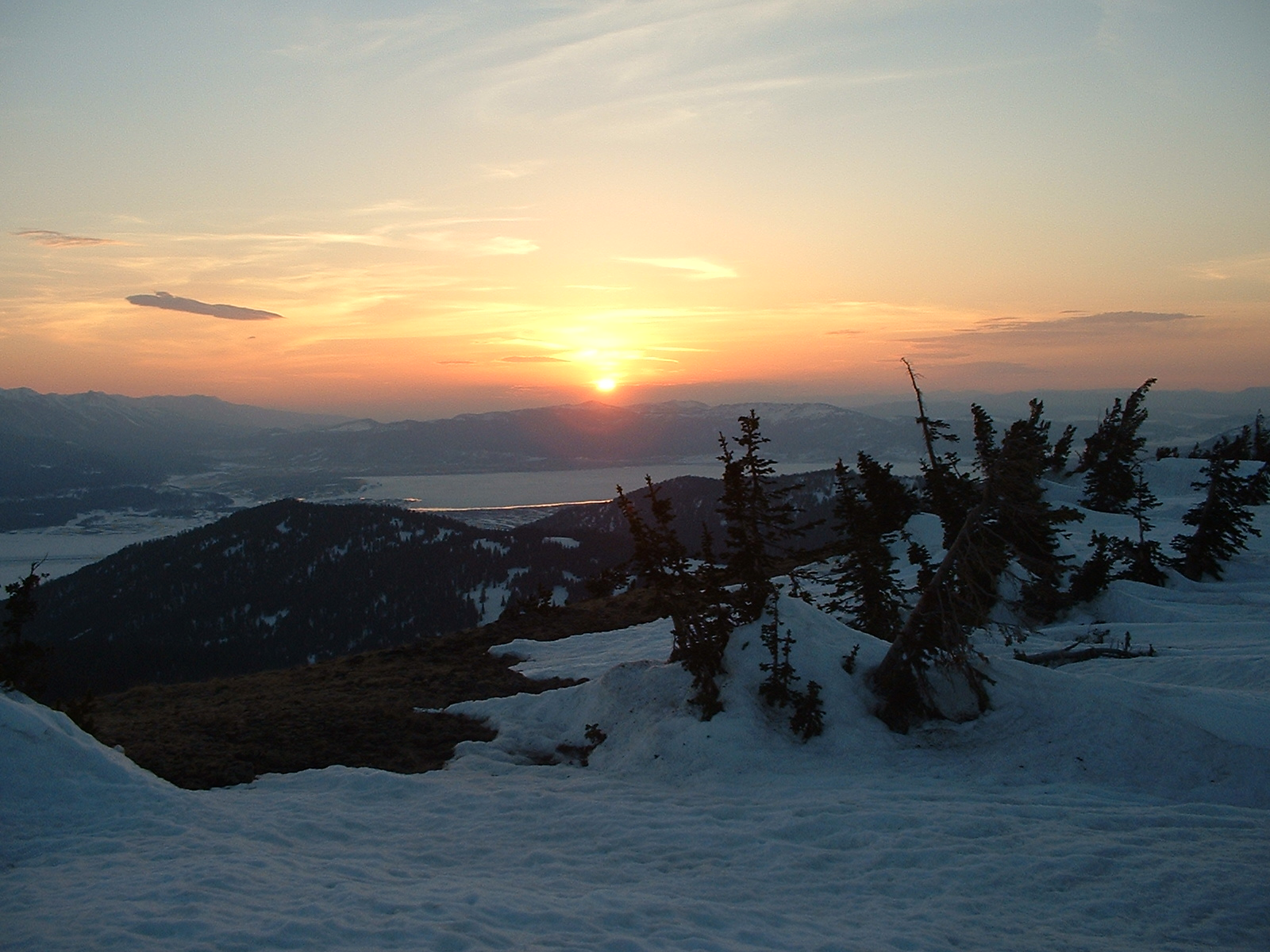 Sunset on Two Top Mountain