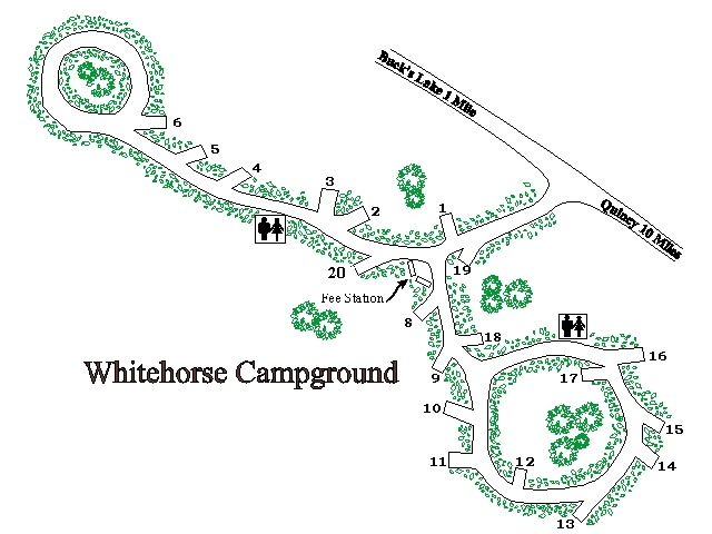 Map of Whitehorse Campground