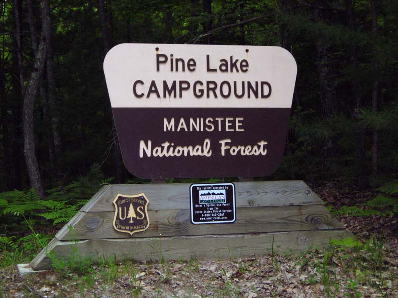 Pine Lake Campground Entrance Sign