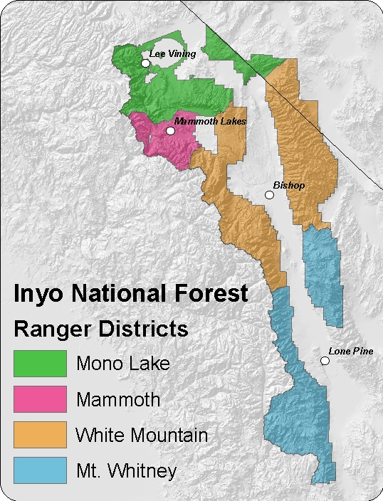 Inyo National Forest Ranger Districts