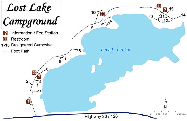 Lost Lake Campground Map Lost Lake Campground