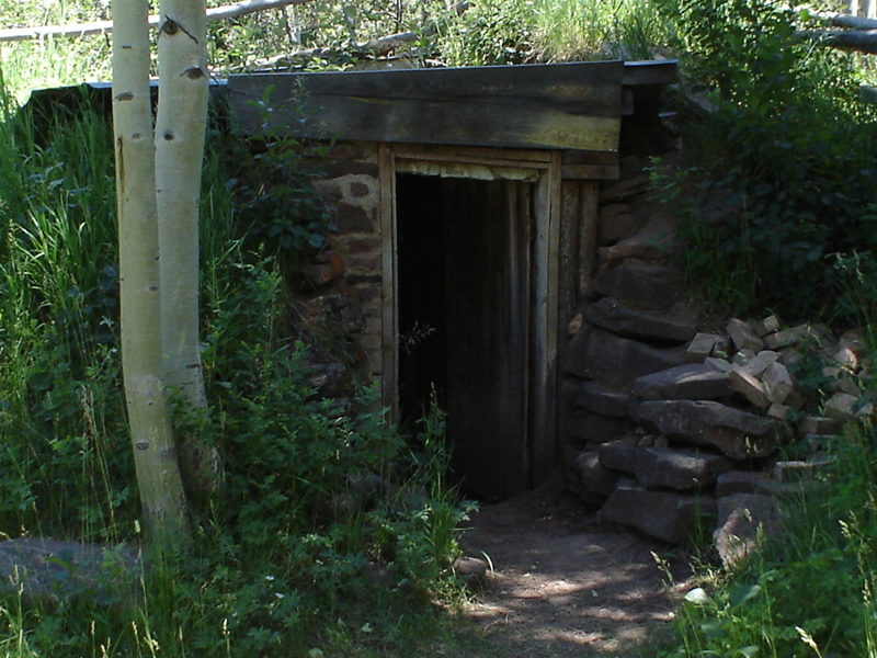 Photo that shows a present day view of the root cellar.