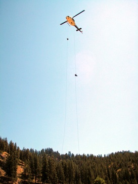 National Forest Air Attack Heli-Rappellers Crew US Forest Service Airborne Fire