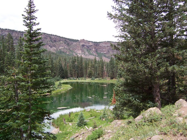 Lake along the East Boulder Creek Loop