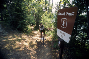 Mountain Biker on Bruno's Run Trail