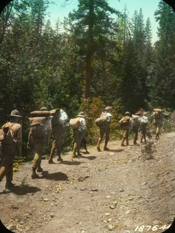 Boyscouts on Hike