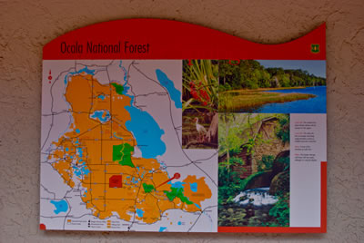 Map from Ocala National Forest kiosk