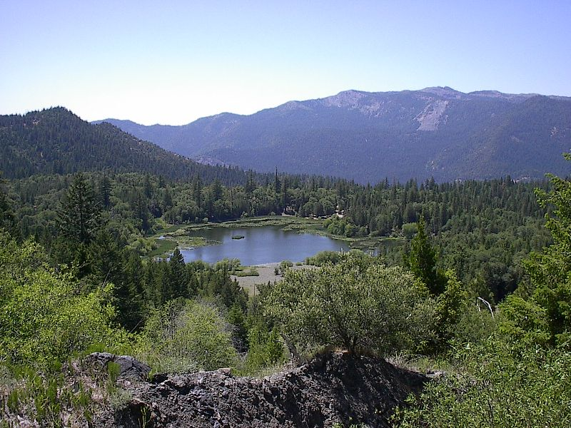 Howard Lake located on the Covelo Ranger District
