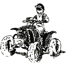 Man on 4-Wheeler