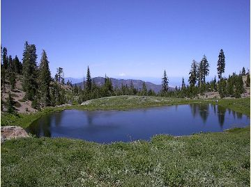 [Photograph]: Square Lake in the Yolla Bolly - Middle Eel Wilderness.