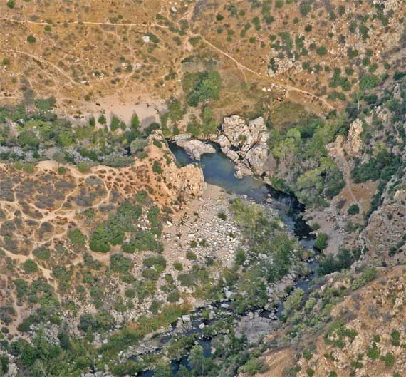Arial View of Deep Creek Hot Springs
