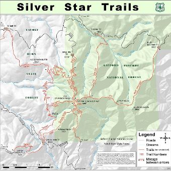 Silver Star Area General Trails Map