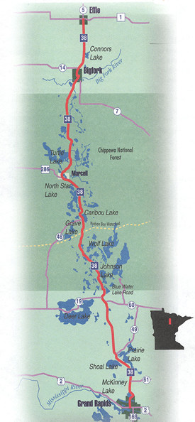 Edge of Wilderness Route Map