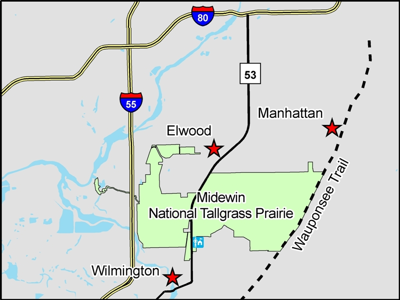Midewin Location Map