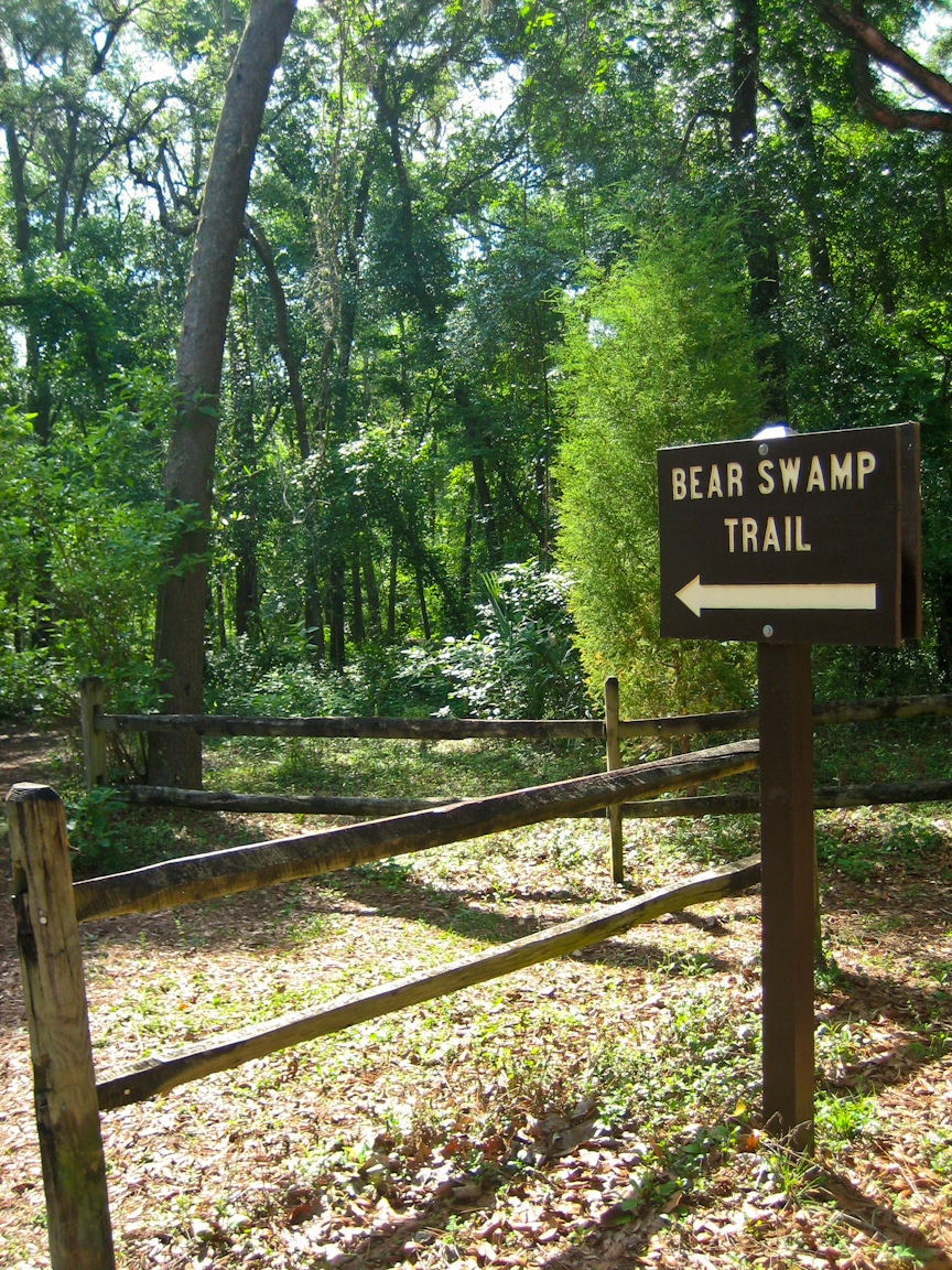 Bear Swamp Trail entrance