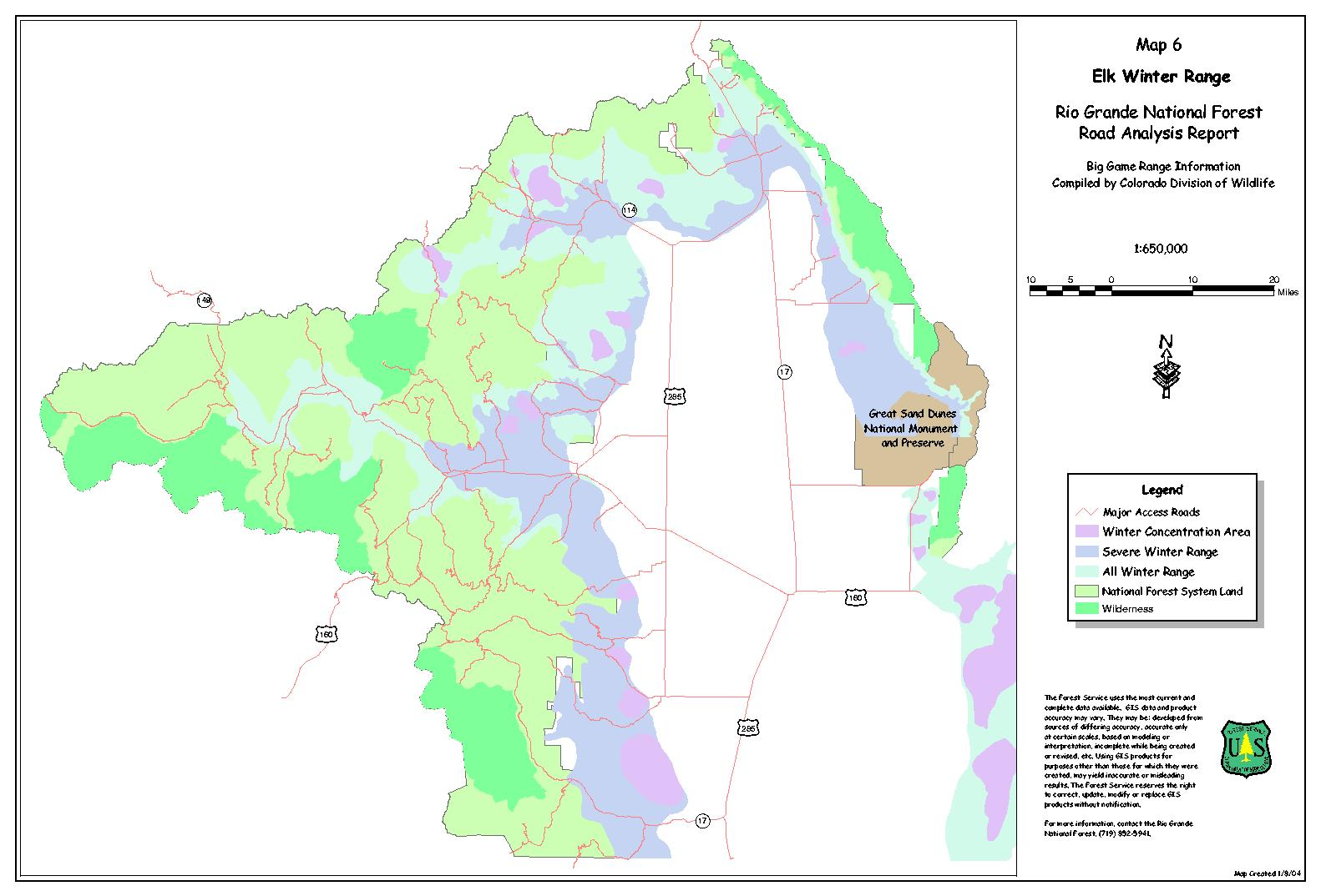 Rio Grande National Forest Projects - Map of colorado national forests