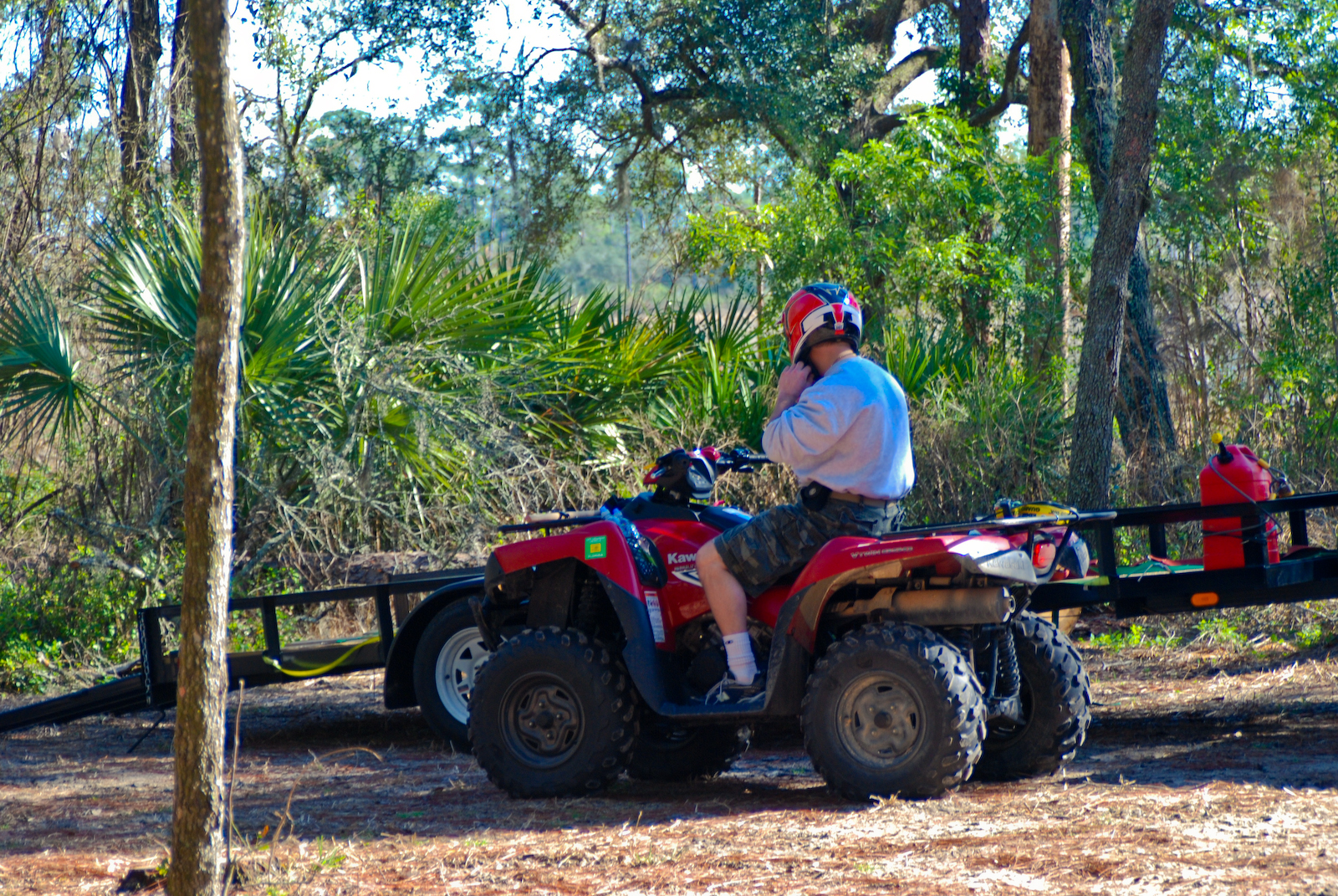 OHV rider at Lake Delancy West