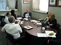 FS staff in one of many meetings held to choose ARRA projects