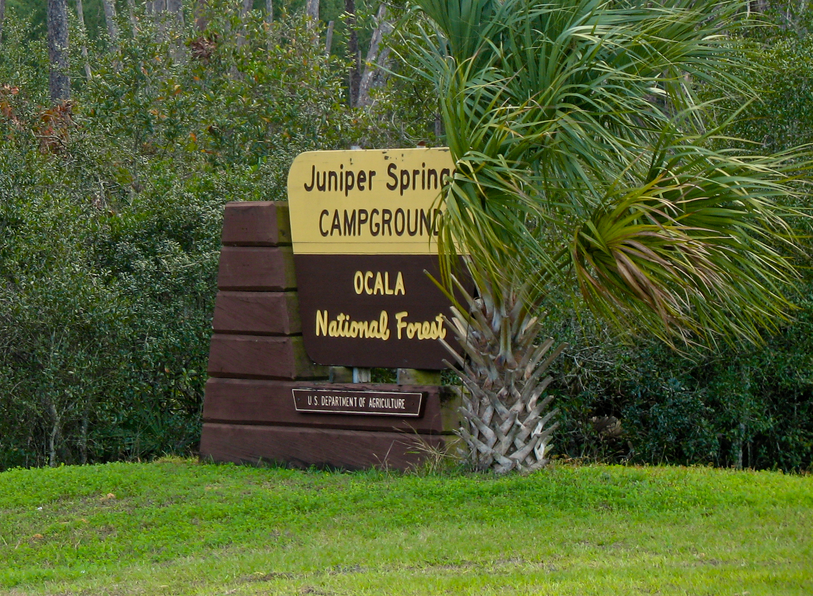 Juniper Springs Campground sign