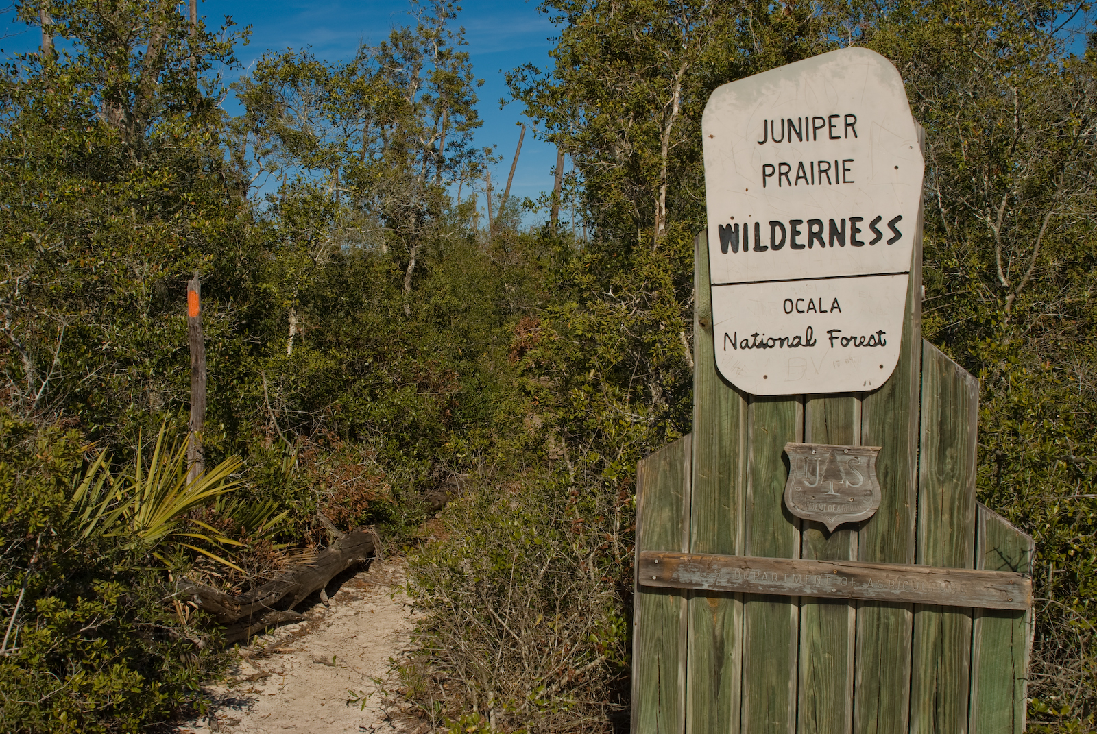 Juniper Prairie Wilderness south entrance