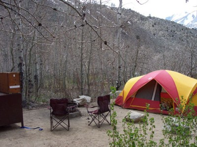 Springtime camping at Four Jeffrey Campground