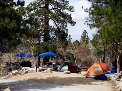 Springtime camping at the Forks Campground.
