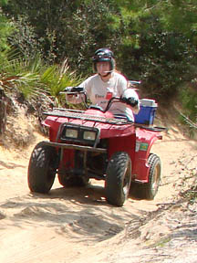 OHV rider in Ocala National Forest