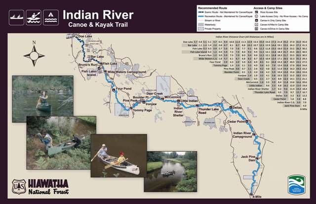 Hiawatha National Forest Indian River Canoe Trail