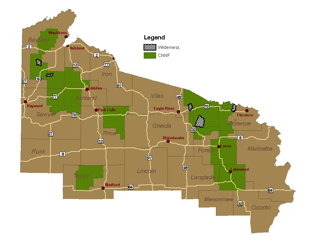 Chequamegon-Nicolet National Forest - Recreation on