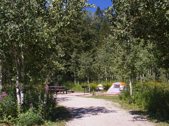 Teton Canyon Campground, Caribou-Targhee NF