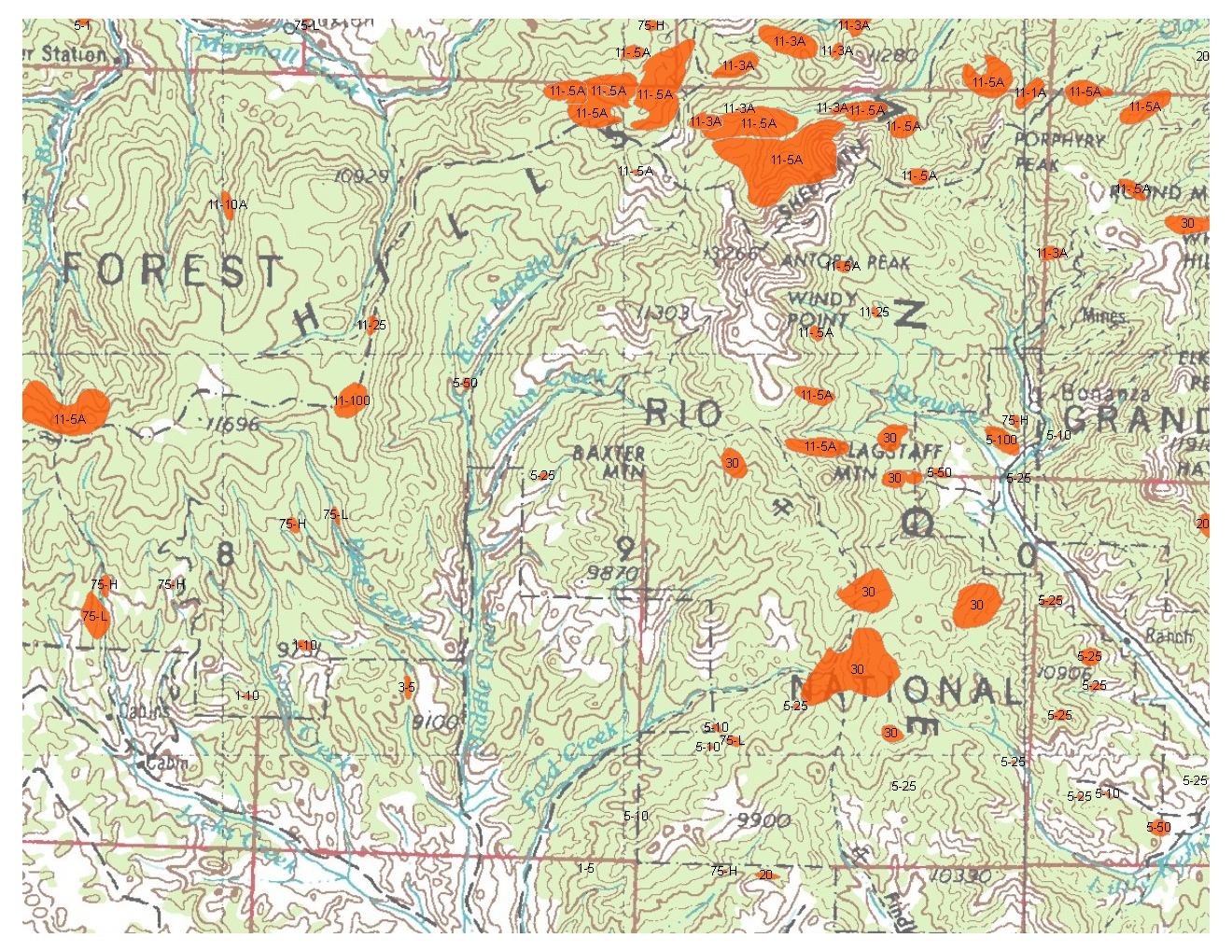 Region Forest Grassland Health - Us forest service topographic maps